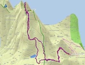 Mount Ashwood and Bonanza Map and GPS Route