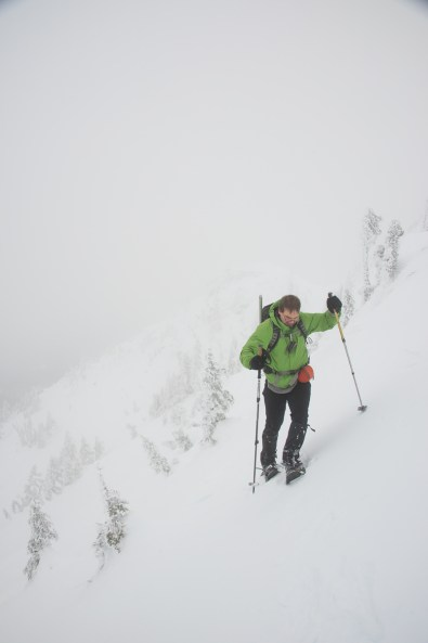 Mt Cain Snowshoe in the Dream Chute