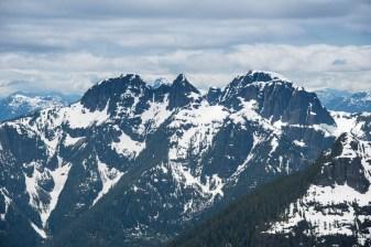 Mountain vistas in the distance -Vancouver Island