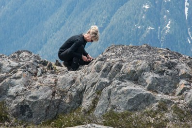 Shannon on the summit of Mount Judson
