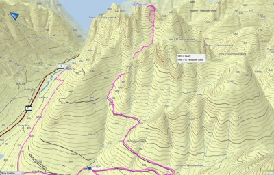 Jagged Peak GPS route
