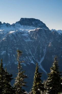 Mount Schoen's summit block across the valley from Genesis Mountain