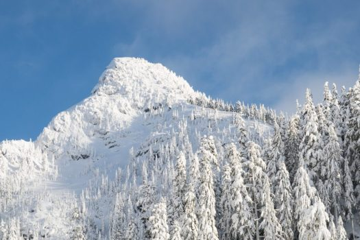 snow capped mountain, Mount Elliot, Vancouver Island hiking, climbing, snowshoeing