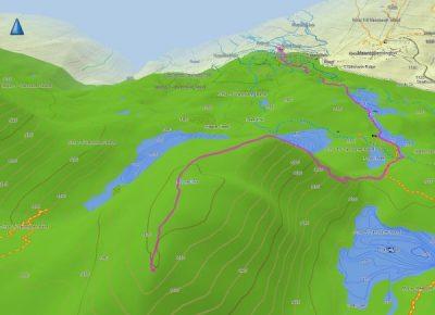 topo map for Mount Elma