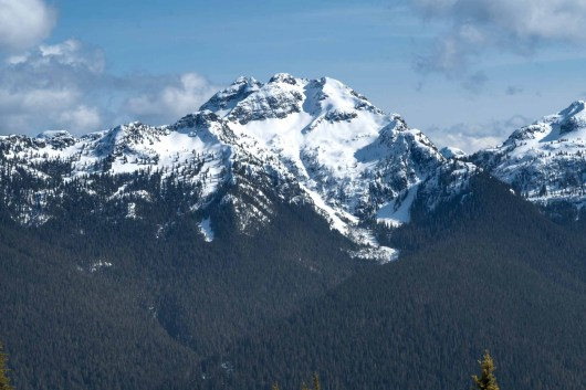 a view of Crown Mountain from our hiking trip to Tyee Mountain