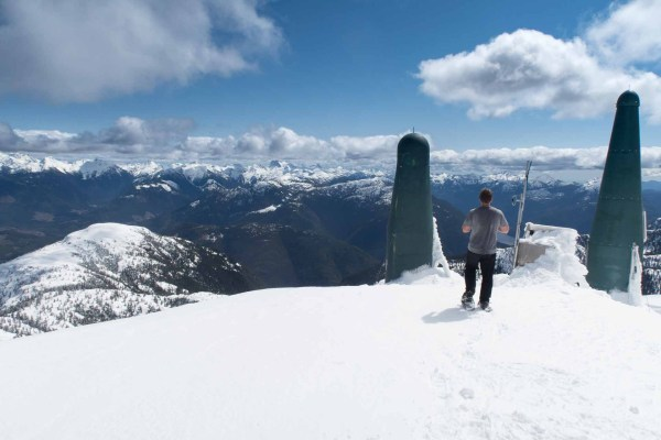 The summit of Big Baldy Mountain
