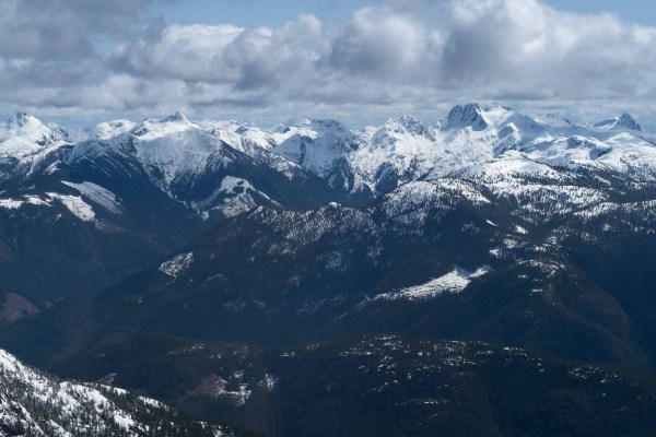 The view from Big Baldy Mountain