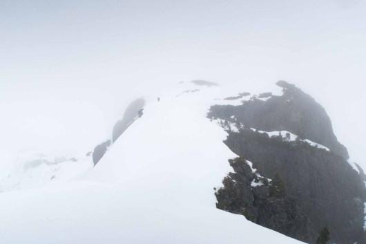 Rick on the summit ridge, Mount Adam
