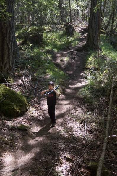 Hemingway hiking to Mount Tzouhalem