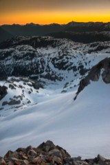 A view of the cirque from the summit of Big Interior Mountain