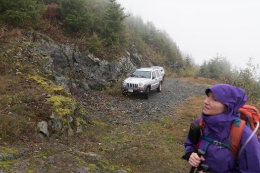 hiking to Heather Mountain on Vancouver Island