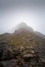 hiking Stevens Peak in the Tlupana Range