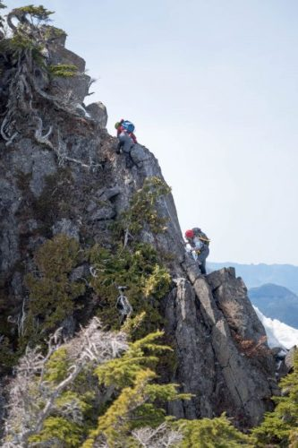 hiking on Vancouver Island's Santiago Mountain: A Vertical Bushwhack