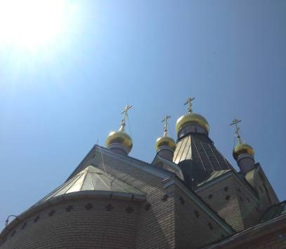 Holy Trinity Monastery - Jordanville, NY Church #1 Onion Domes and Crosses