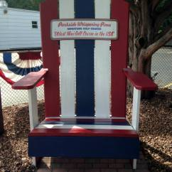 Adirondack Chairs Rochester Ny Red Leather Wing Chair Recliner Whispering Pines Mini Golf