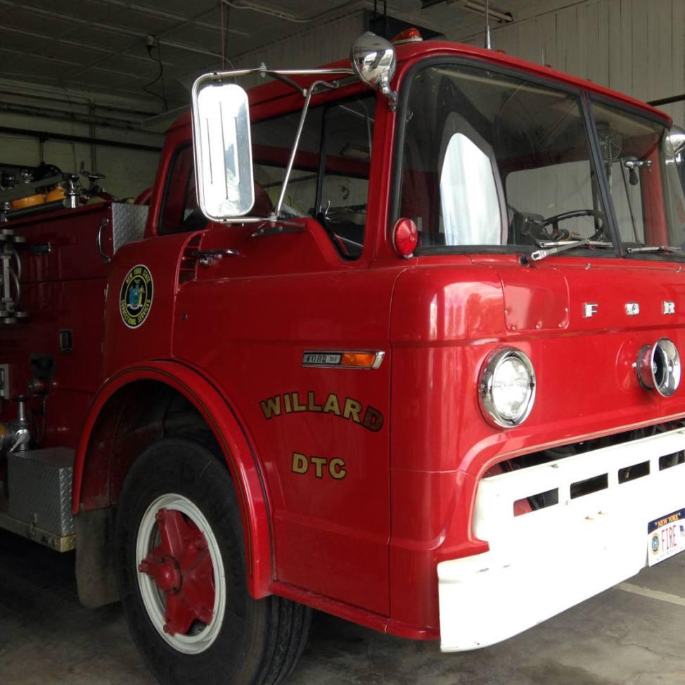 Willard Asylum DTC Antique Ford Fire Truck