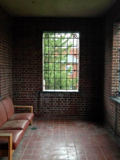 Bars on the Windows in Elliott Hall