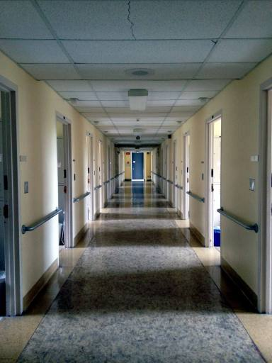 Hallway in Elliott Hall Medical Building