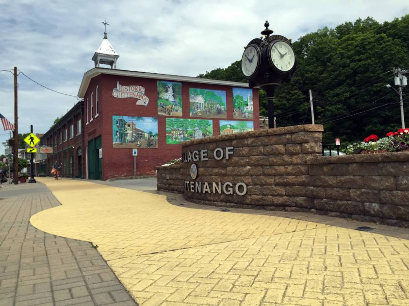 Historic Chittenango Mural and Yellow Brick Sidewalks
