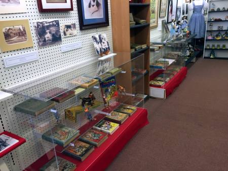 Display Case at the All Things Oz Museum in Chittenango, New York