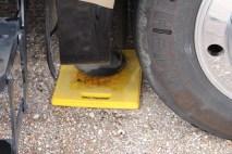 Put jacks up & remove yellow pads