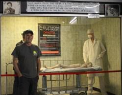 Kevin at the autopsy display
