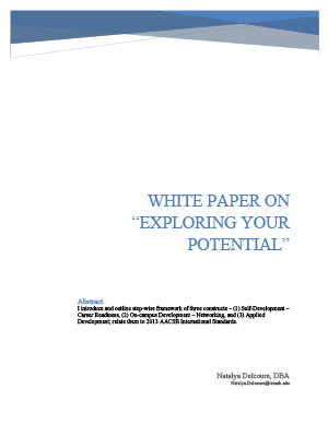 """Image: Cover: WHITE PAPER ON """"EXPLORING YOUR POTENTIAL"""""""