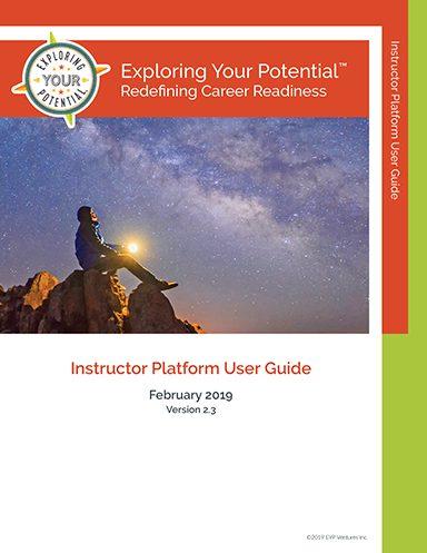 Image: EYP Instructor Platform User Guide Cover