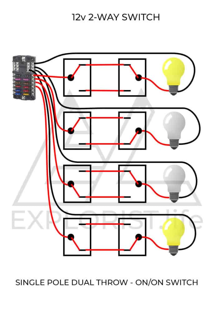 12 Volt 3 Way Switch Wiring Diagram : switch, wiring, diagram, How-To, Lights, Switches, Camper, Electrical, System, EXPLORIST.life