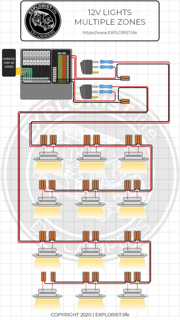 How To Wire 3 Way Switch With Multiple Lights : switch, multiple, lights, How-To, Lights, Switches, Camper, Electrical, System, EXPLORIST.life