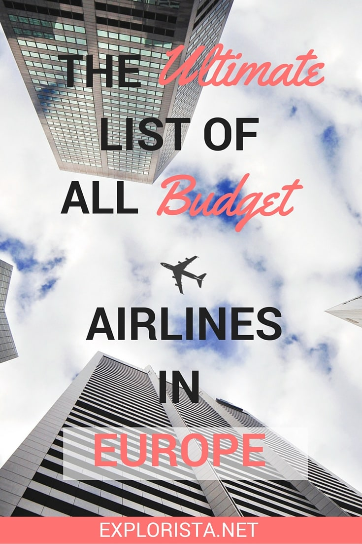 The ULTIMATE list of all budget airlines in Europe!