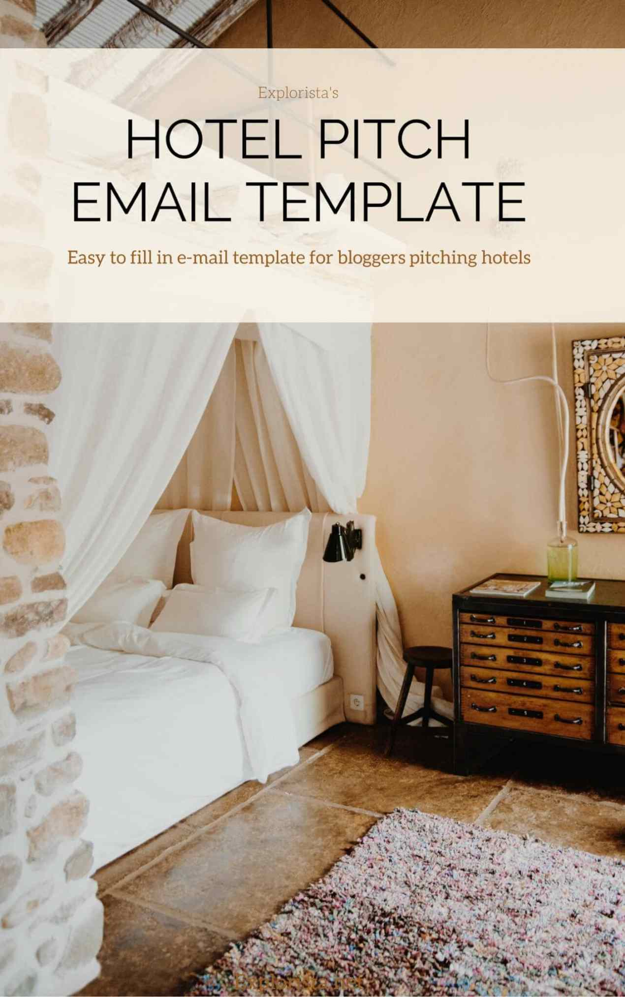 This guide tells you how you can work with hotels as a blogger. It includes tips and a handy email template so you can send smashing pitches.