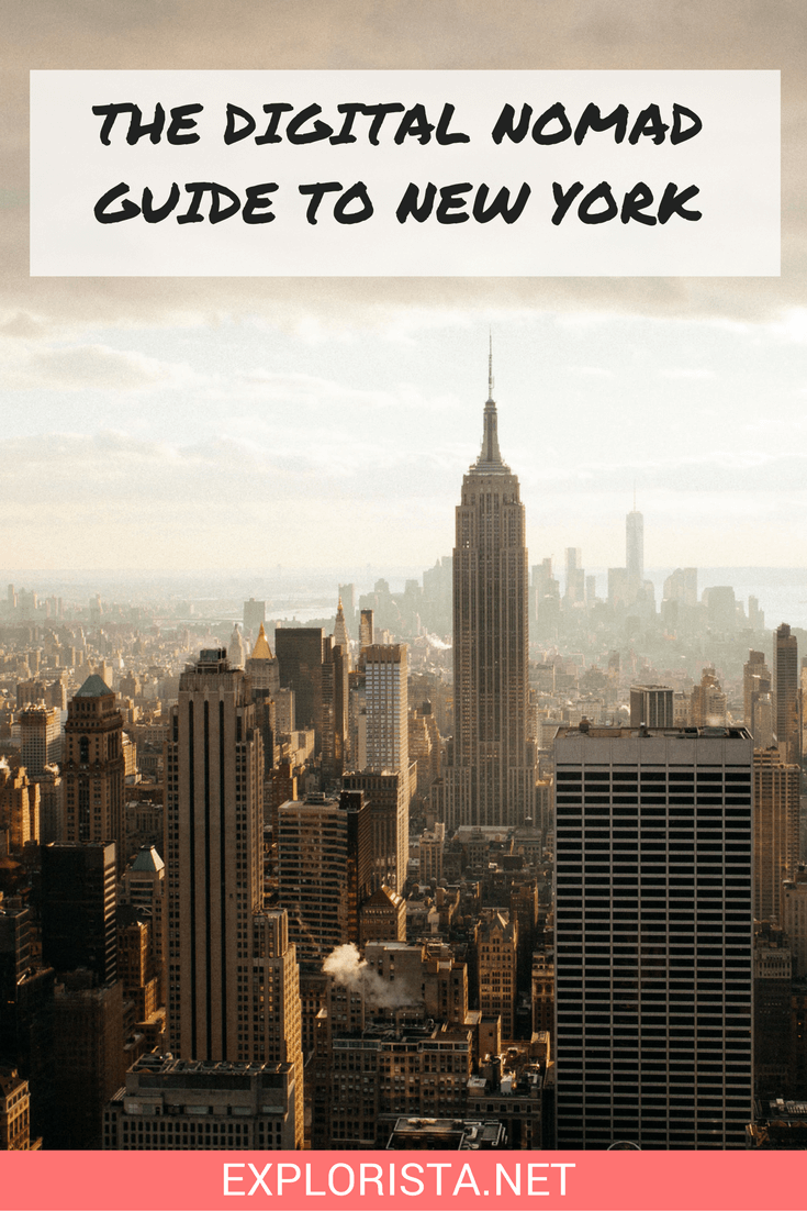 This Digital Nomad Guide to New York has all the best cafe & coworking spaces, as well detailed advice on how much everything costs!