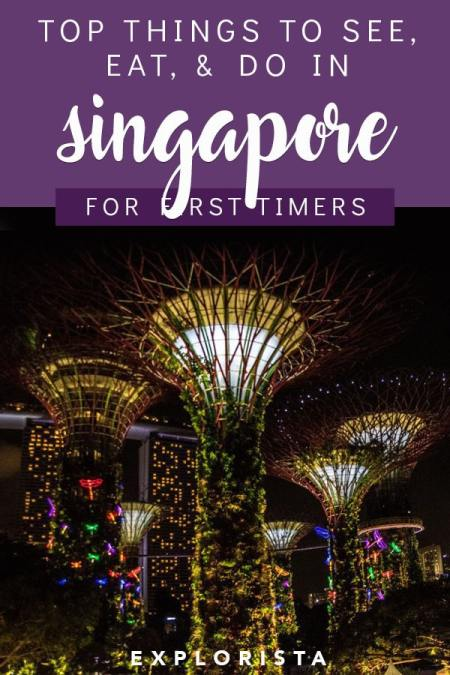Wondering where to go in Singapore? Here's a travel guide to all the top things to do, see, and eat for first time visitors! #singapore #singaporetravel #thingstodoinsingapore #wheretoeatinsingapore