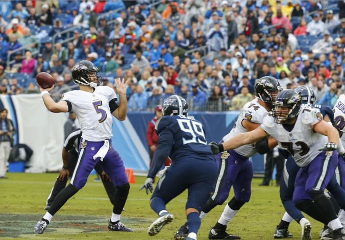 Ravens QB Joe Flacco vs. Saints secondary