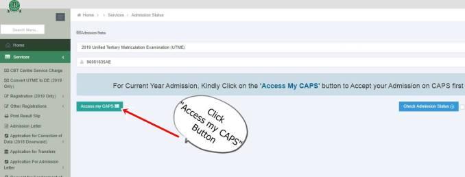 access my caps