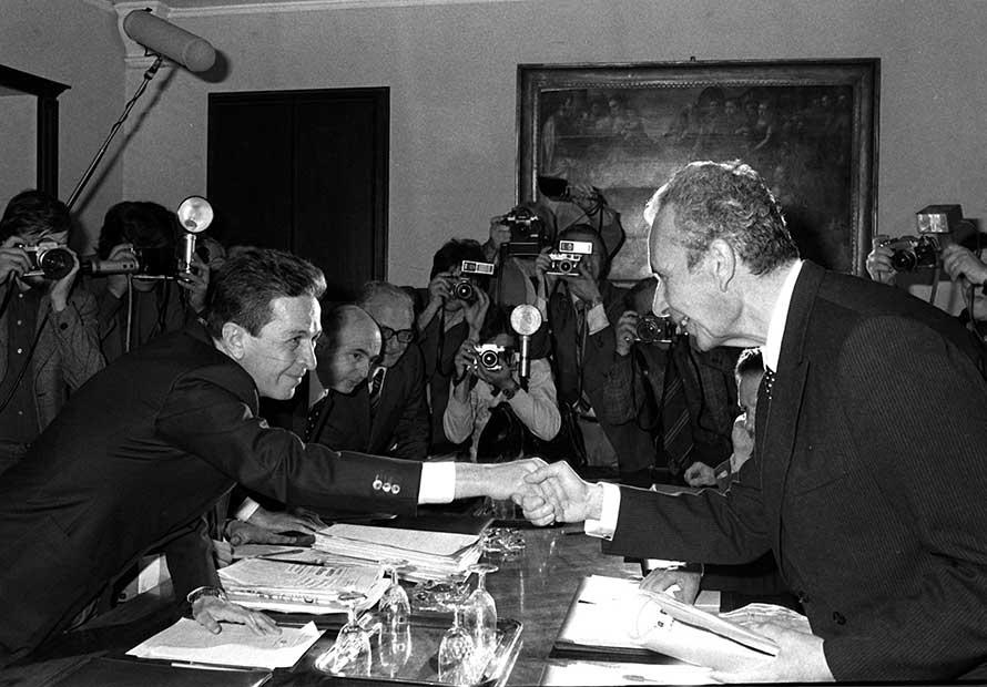 Berlinguer e Aldo Moro