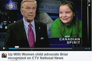 CTV News : Le projet pour les jeunes filles d'Up With Women