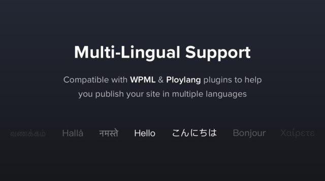 Translatable & Multi-Lingual