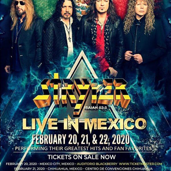 Stryper 20 de Febrero en la CDMX