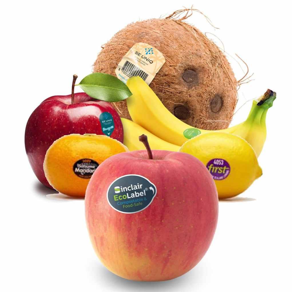 etiquetas adhesivas frutas y hortalizas