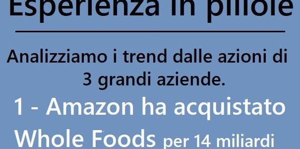 Trend 2017 – Spunti da 3 grandi aziende – 1 – Amazon acquista Whole Foods