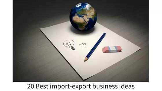 export import business ideas
