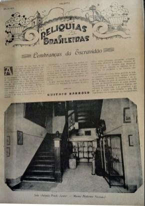 """""""Lembranças da Escravidão"""", por Gustavo Barroso. Revista Selecta, 1930"""