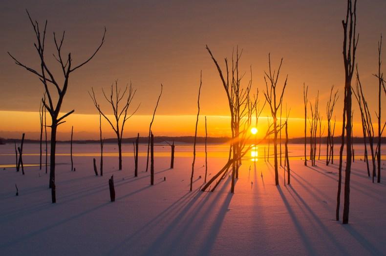 Sunrise in the Snow