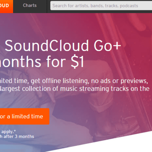 SOUNDCLOUD GO GOES SUPER-CHEAP IN $1 FOR THREE MONTHS PROMOTION.