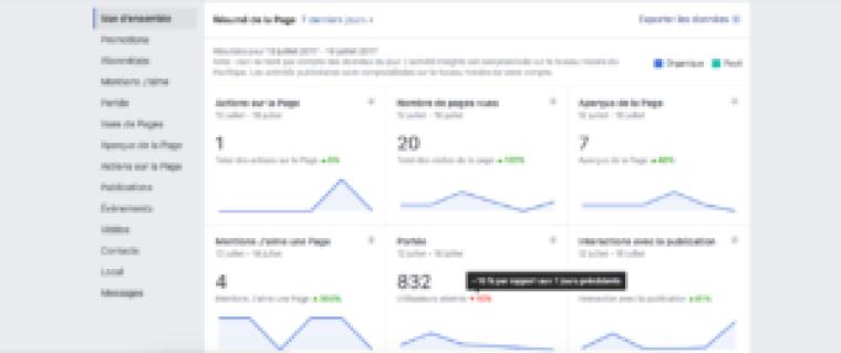 analyser statistiques facebook vue d'ensemble
