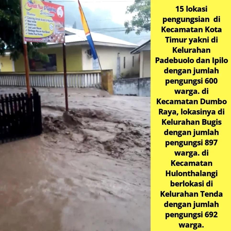 Gorontalo Banjir Lagi, Ribuan Warga Mengungsi