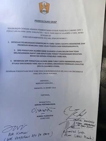 Kepengurusan PA GMNI Sulut Sudah Habis Periode, Alumni Tolak Konfercab Bersama