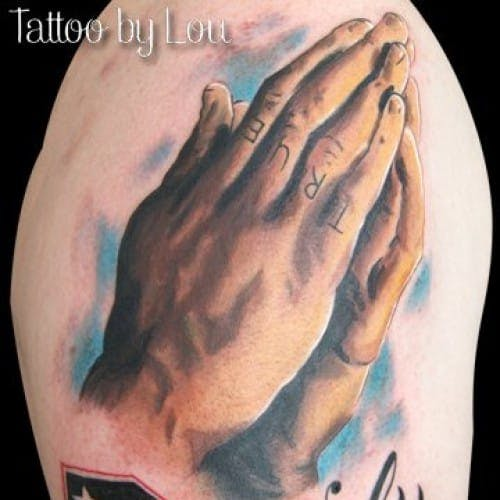 praying hands tattoo designs